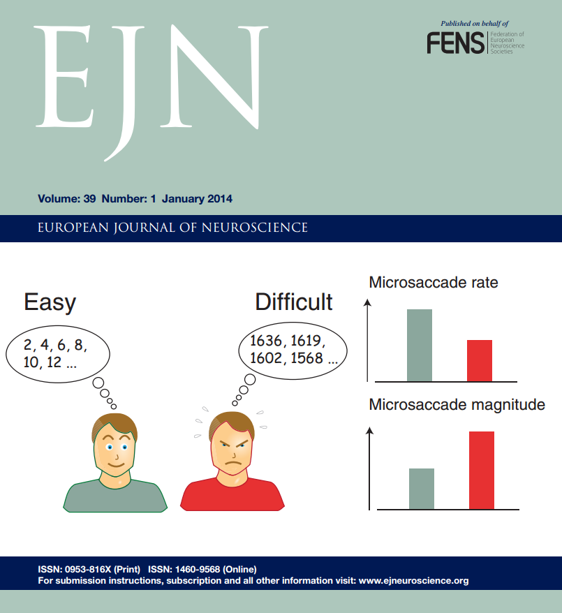 Martinez-Conde Lab's research featured on the Cover of European Journal of Neuroscience