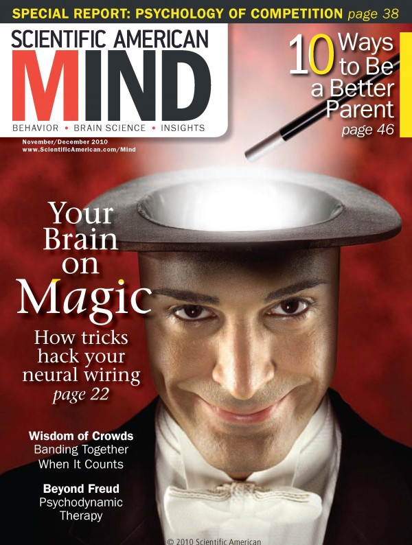 Martinez-Conde Lab's research featured on the Cover of Scientific American Mind